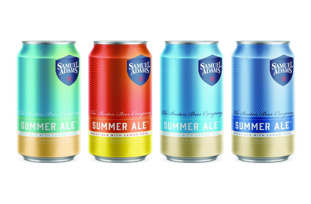 Concept art for Samuel Adams Summer Ale built around a minimalist, color-block beach landscape.