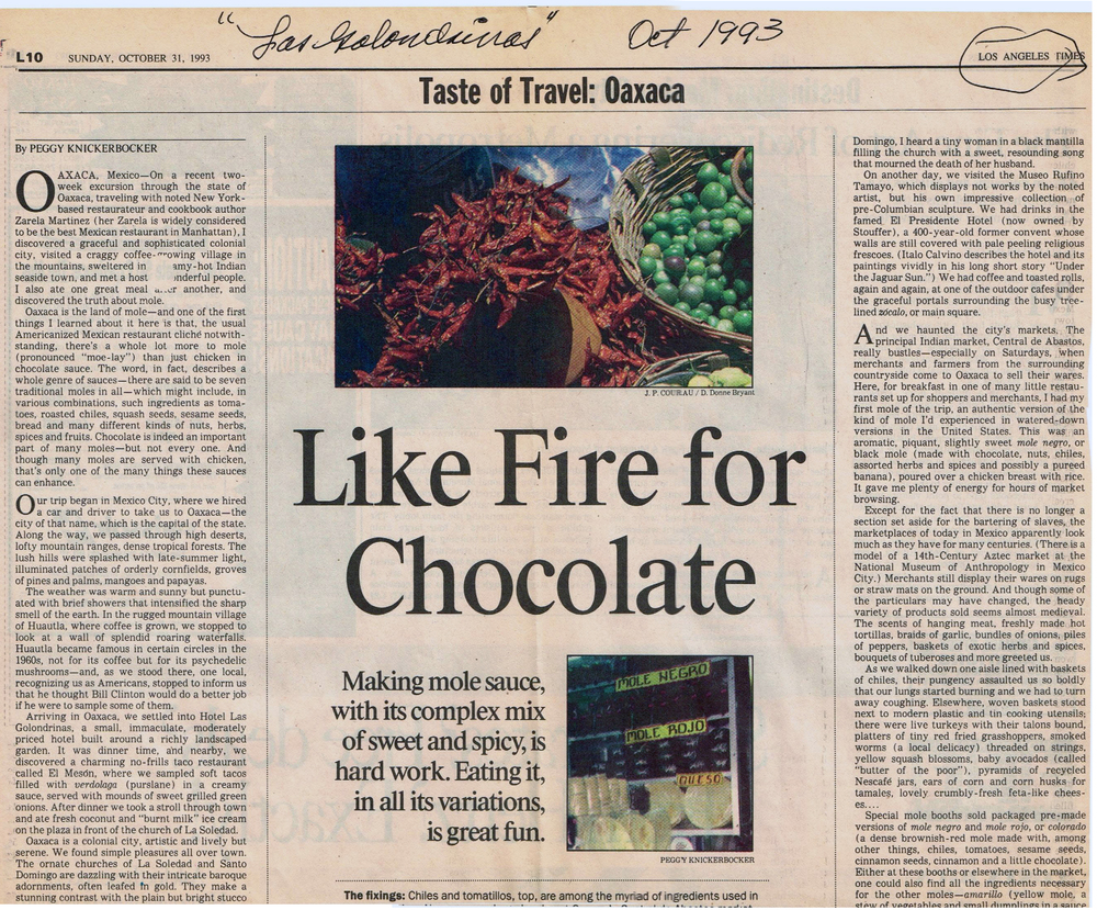 Los Angeles Times, Oct. 1993.