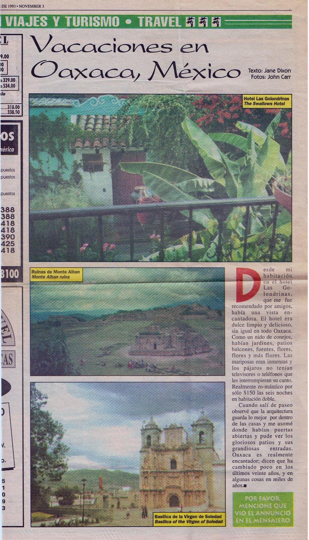 El mensajero, Nov 1993