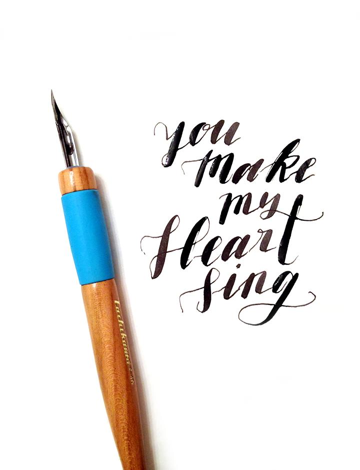 Calligraphy You Make My Heart Sing Carol Chan