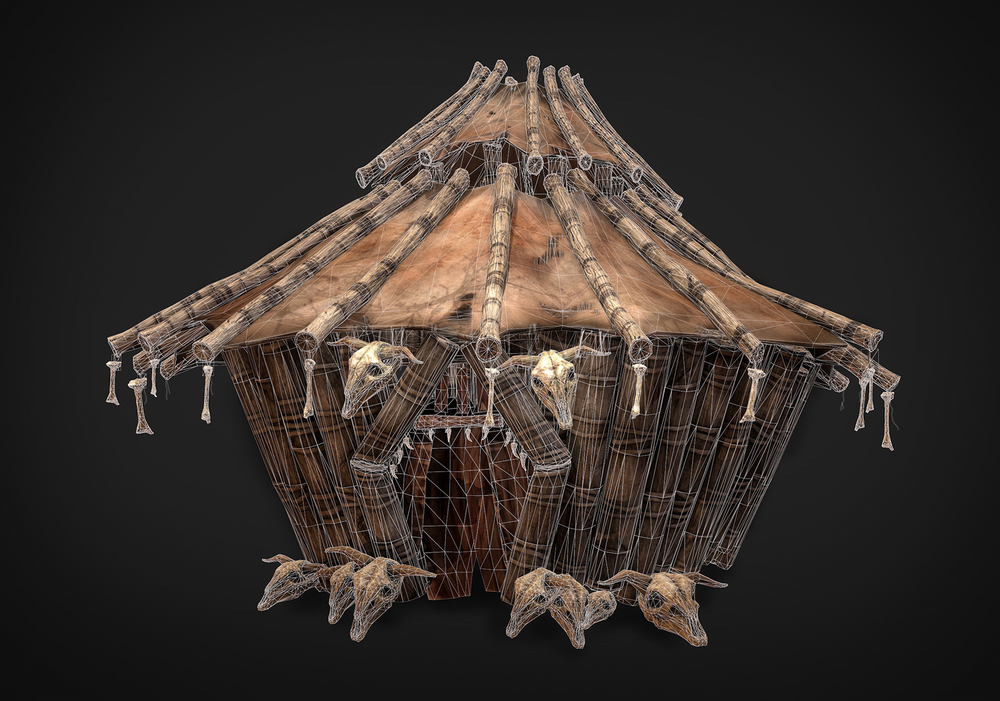 Hut (Marmoset Render - 35k Tris)