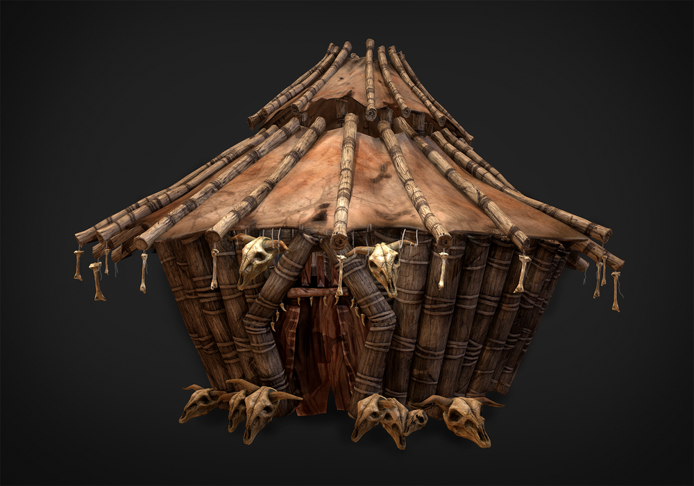 Hut (Marmoset Render)