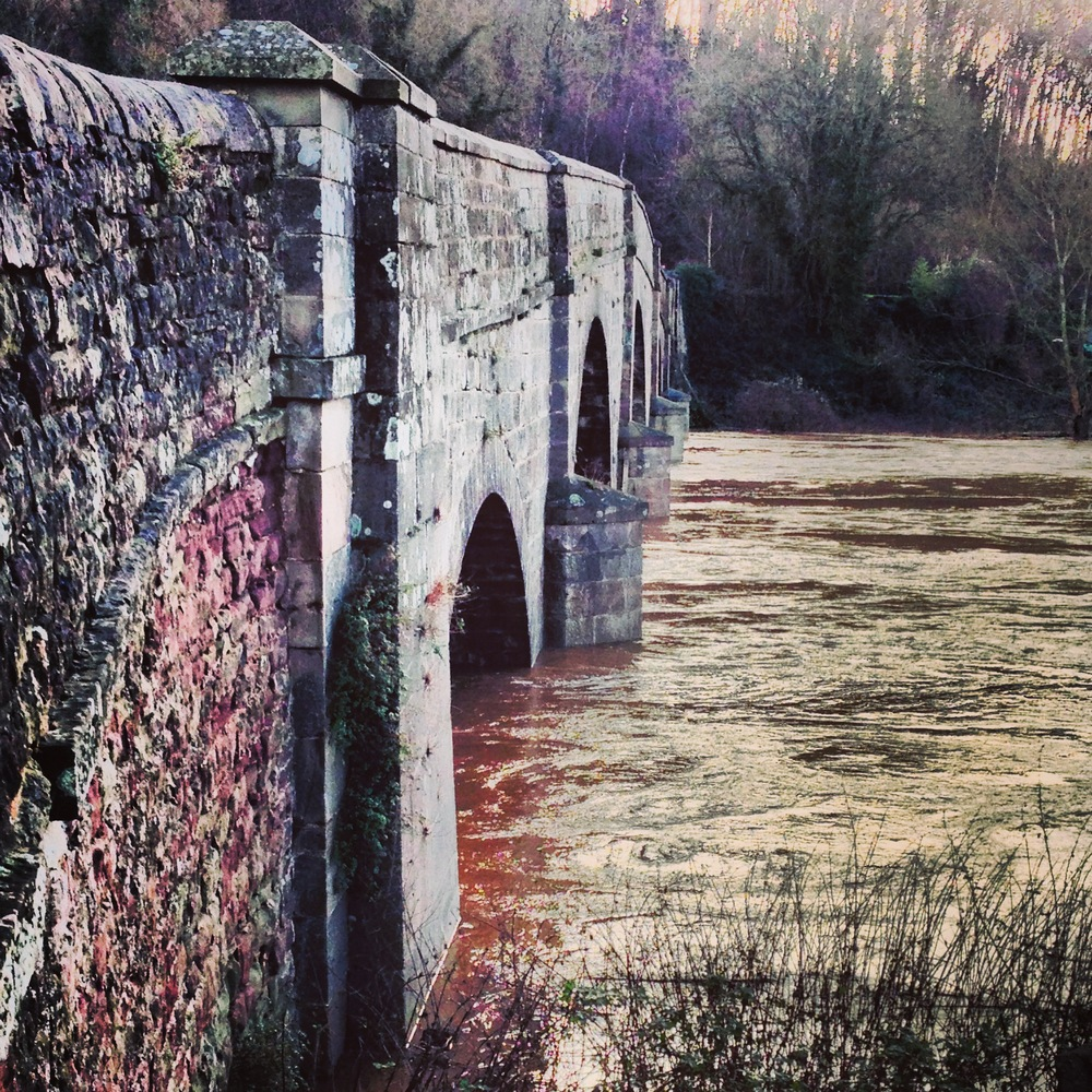 Bridge over the river Wye (2013 Christmas floods)