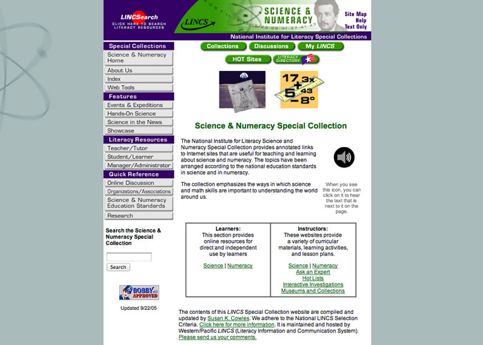 Science LINCS: Science Numeracy