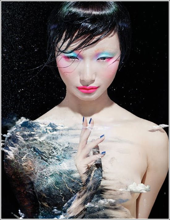 Featured look for MAC and Chen Man Love & Water Collection for Spring 2012