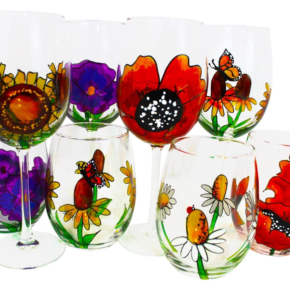 Flowers & PumpkinsCollection - All things that grow from the ground. Seasonal glasses for seasonal sipping.