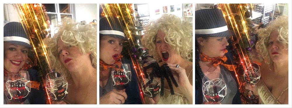 Having some Halloween Fun! (Maybe we had too much wine?)