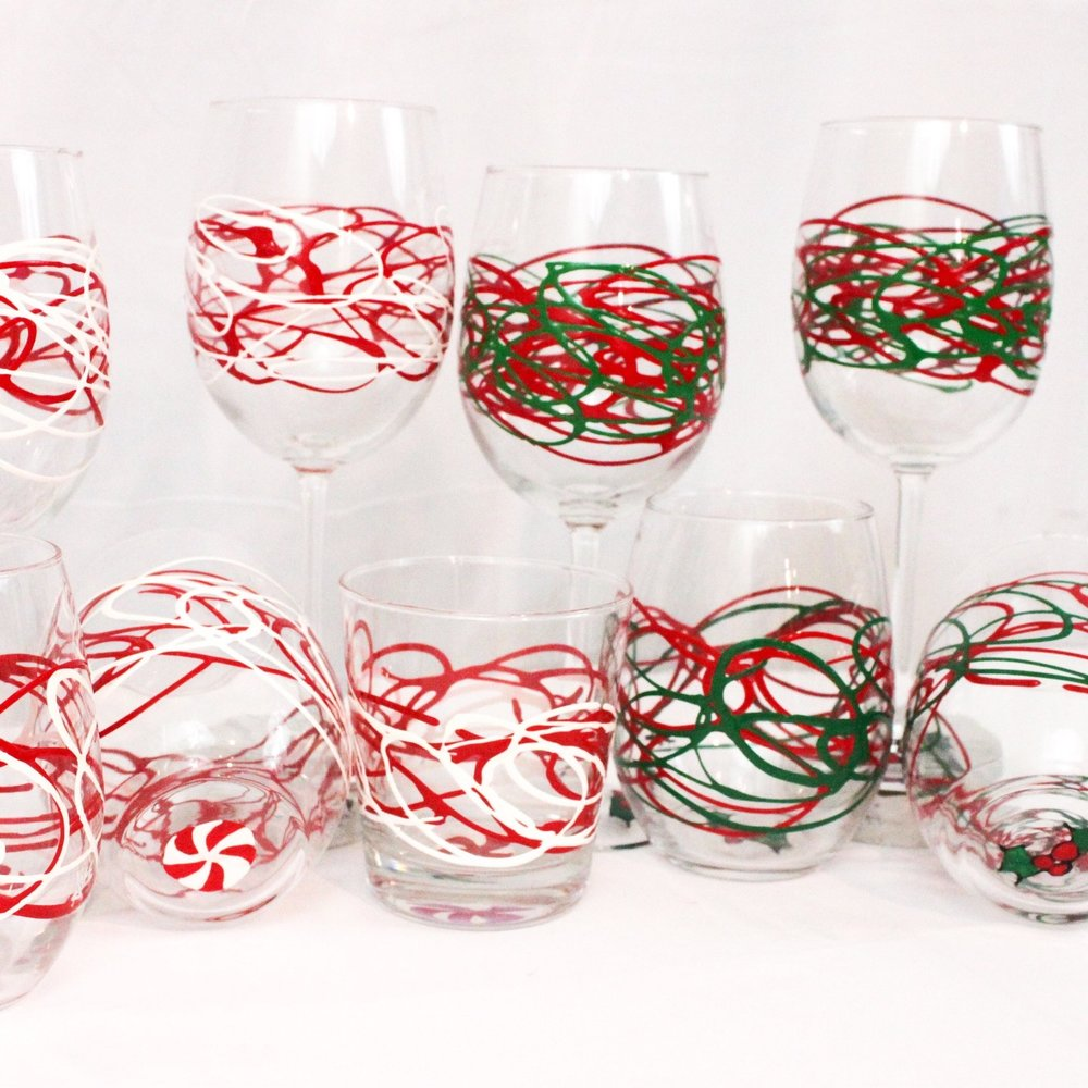 Peppermint & Holiday Swirls - Simple and stylish, festive and fun.