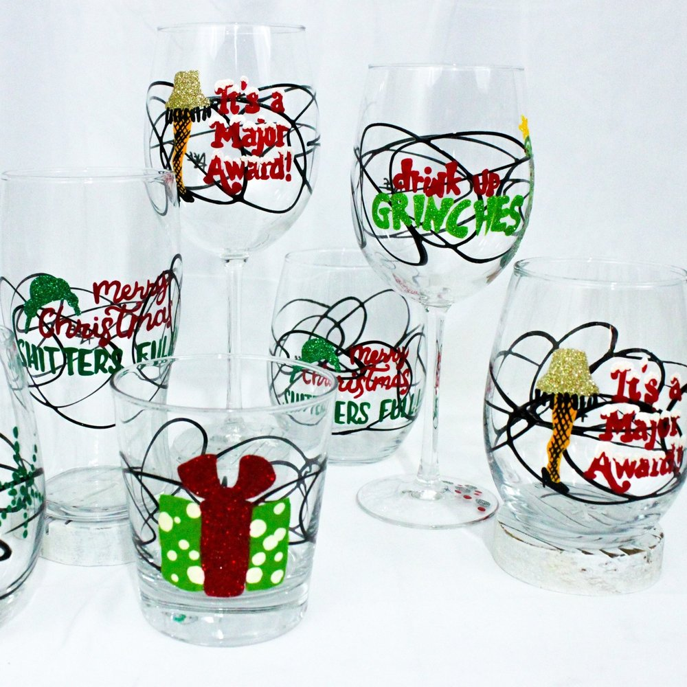 Naughty Christmas Collections - A Christmas Story, The Grinch, and Christmas Vacation Glasses!