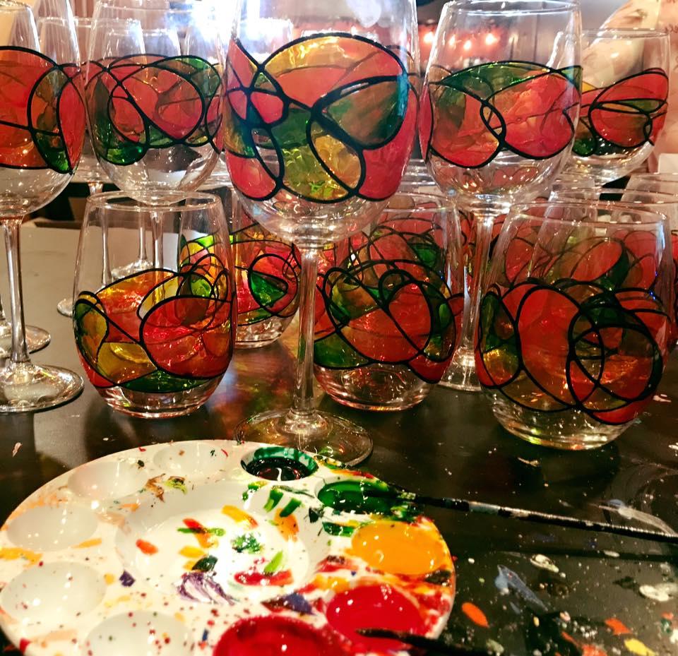 spanish dance abstract wine glasses.jpg