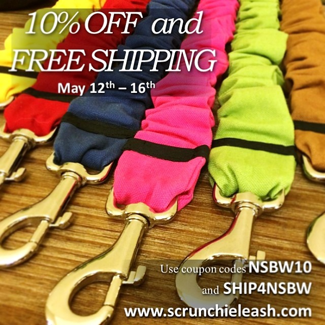 National Small Business Week Sale! May 12-16 use codes NSBW10 and SHIP4NSBW for big savings! www.scrunchieleash.com  #dogs #sale #savings #puppy #dog #puppies #doglovers #dogoftheday #dogsofinstagram #sales #discounts #fun #gift #mothersday #nsbw