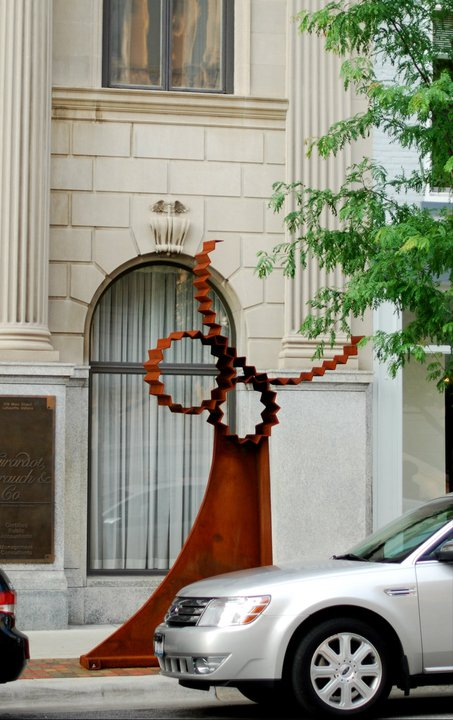 David Ross. 2010. 12'x8. Located in Lafayette, In Courthouse Square