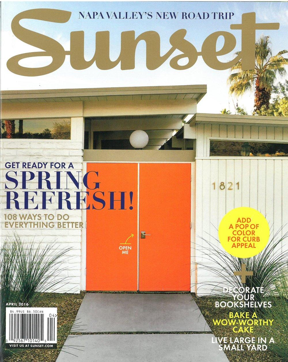 Sunset Magazine April 2016