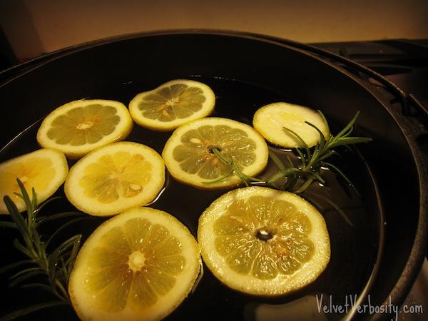 Lemon, rosemary, and vanilla