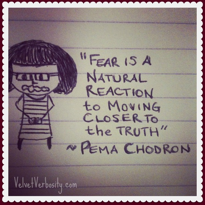 Pema Chodron Quote and Doodle