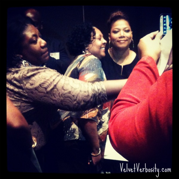 Queen Latifah with Fans