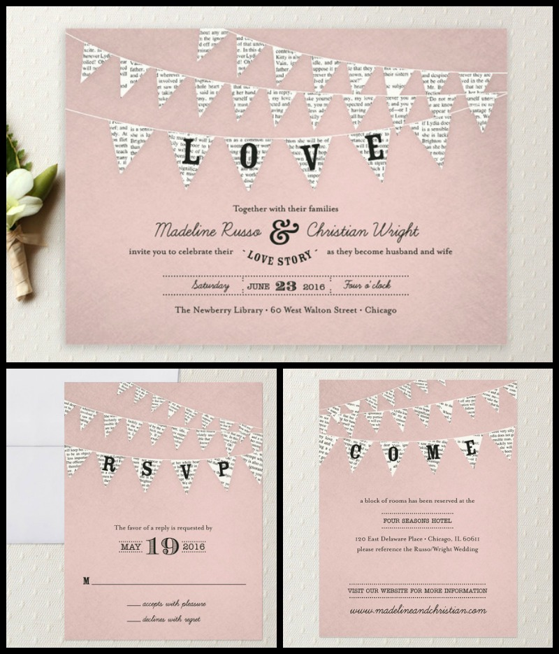 Bookish Wedding Invitations