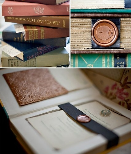 Bibliophile Wedding Invitations