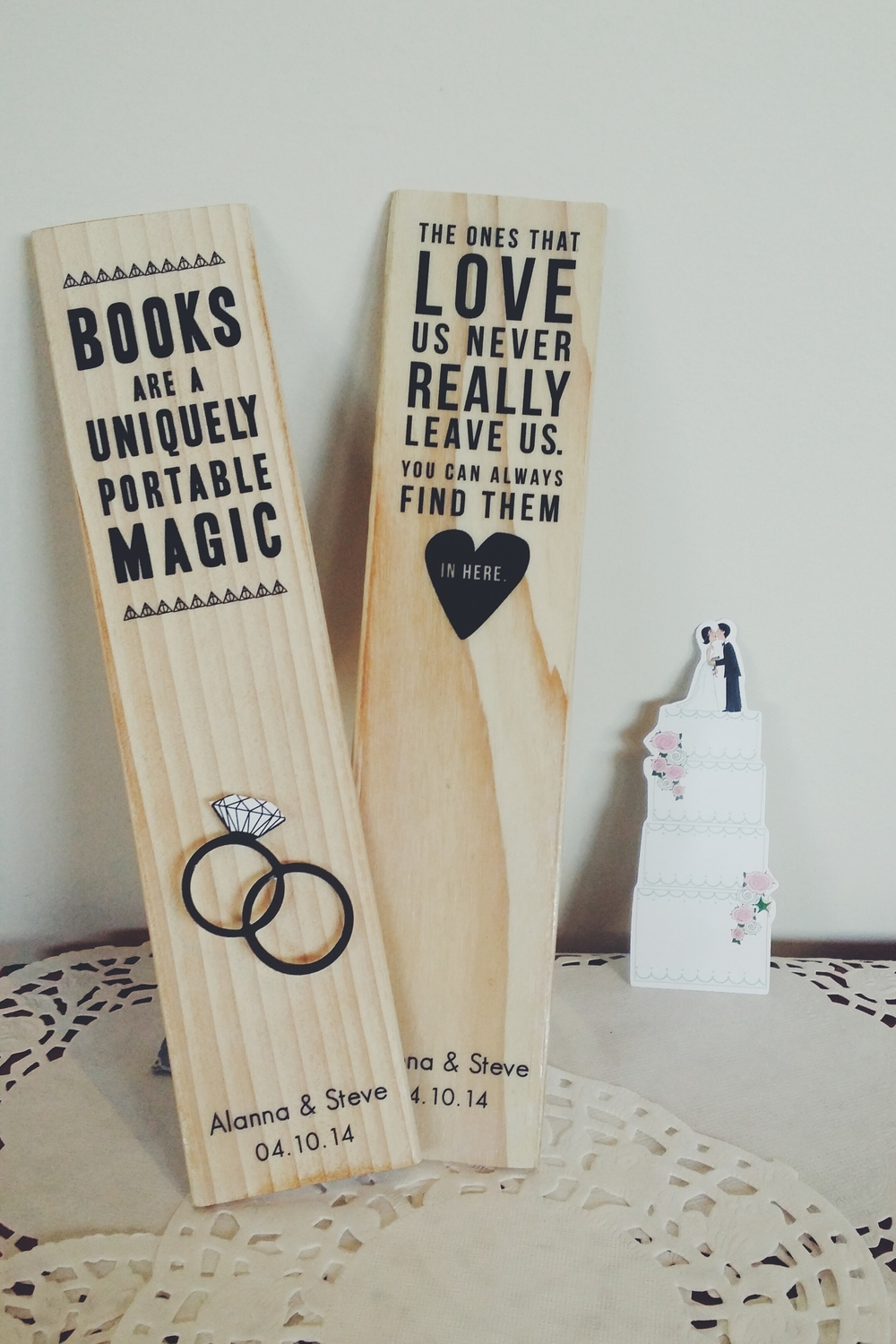 Lillytales Wedding Bookmarks
