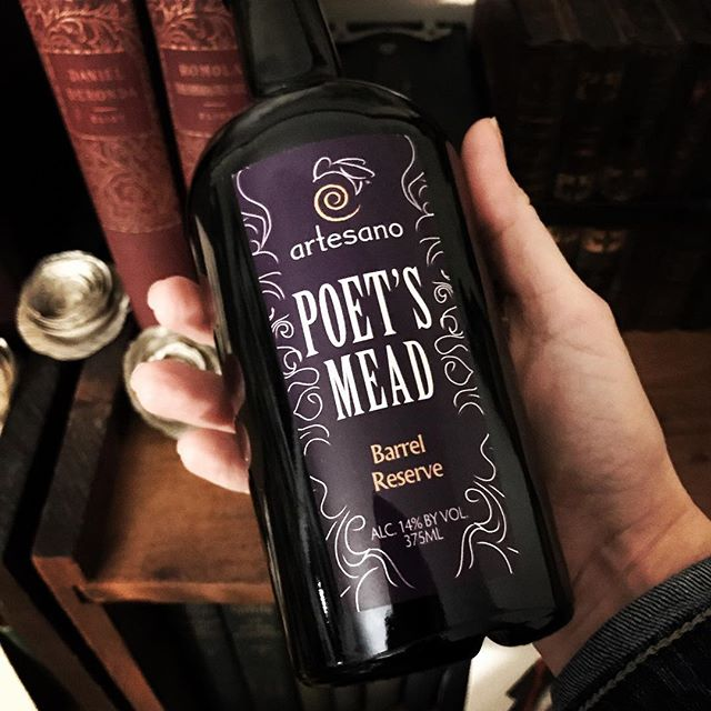 """The mead of inspiration is reputed to give poets their ability to understand the secrets of the world. Ours is brewed with pure Vermont honey and aged in American bourbon barrels. Sip and wax poetically."" #poet #poetry #mead #literarylife #literarylifestyle #wordnerd #literarycocktails #nerdbrew #madeinvermont #vermont"