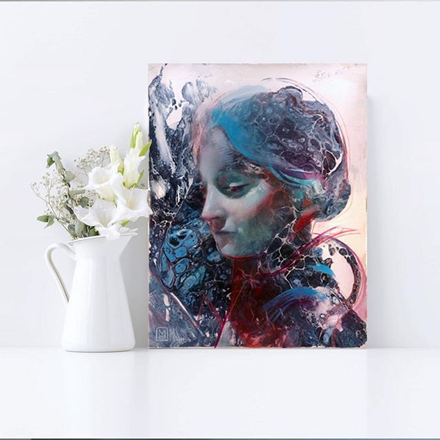 "I have been waiting for this day for over a month! I am beyond stoked to have gotten my order in for one of these 10 limited edition resin prints - ""Mother Mary"". A portrait of Mary Wollstonecraft Shelley by @marcscheff. I fell in love with this piece the second I saw it. It's absolutely gorgeous, but also...Mary Shelley! Mother of Frankenstein. Daughter of the famous defender of women's rights, Mary Wollstonecraft. Writer of what many consider the first piece of science fiction. A novel ""concerned with the destructive nature of power when allied to wealth"". Plus, I read Frankenstein in a literature course at my beloved Alma Mater, Smith. From a post by Marc Scheff about the original: ""In researching for the piece, I found myself drawn to and compelled by Mary Wollstonecraft Shelley's life. Her work is compelling, and the life behind it adds color and depth to an already heartbreaking story. I always love the story of creative work. Her capacity to create in the face of the events of her life, that inspired me most."" Sweet-peas, this JUST got released, and I know there's already at least one less available out of the 10 because I just ordered mine. Do NOT kick yourself for letting this one pass. https://www.marcscheff.com/prod…/mother-mary-original-print/ (photo swiped from Marc's Facebook) #maryshelley #frankenstein #literaryart #resin #resinart #limitededitionprint #literary #scifi"