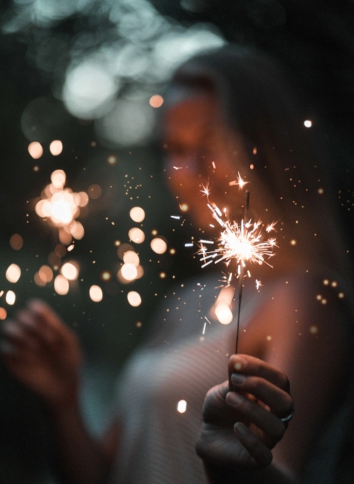 Photo by ETHAN HOOEVER, Unsplash. Turning on is a bit like ligtning a sparkler - The difference being that being turned on can be self-renewing