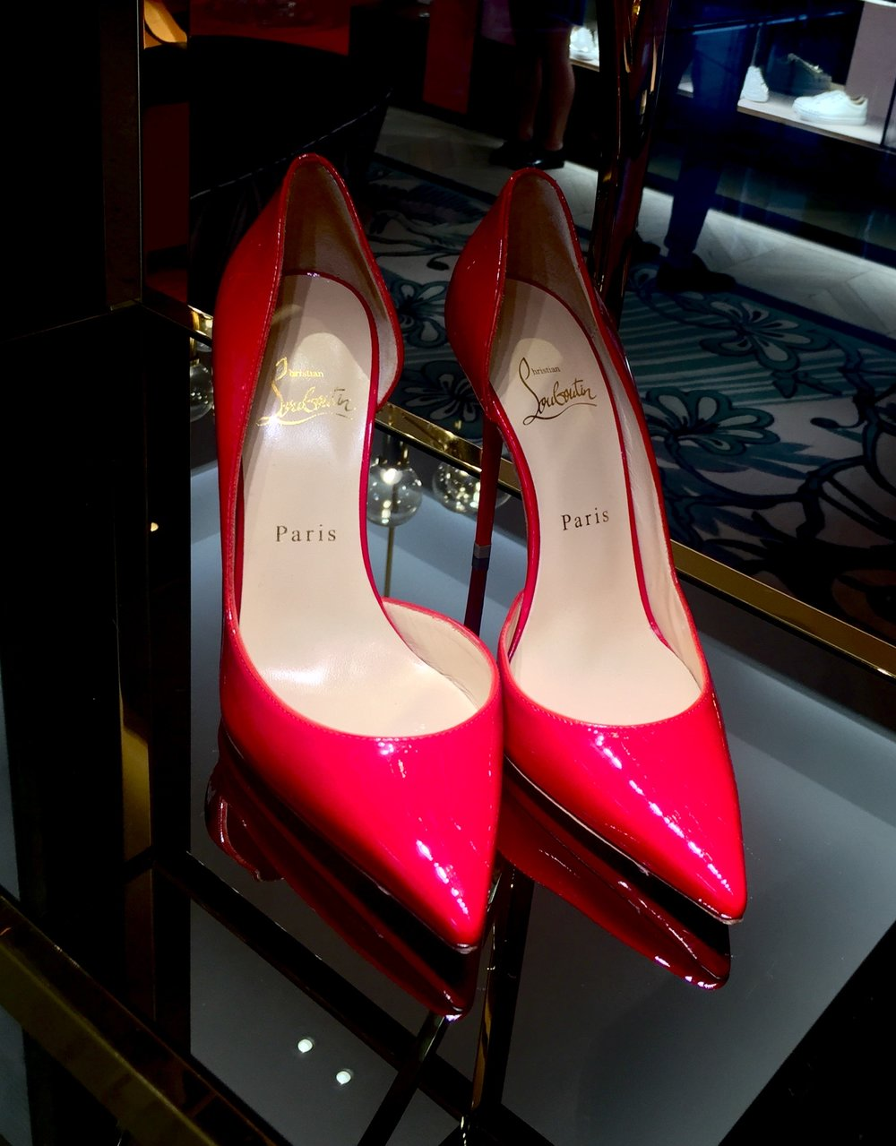 Red Shoes ©Sean Ginnane 2018 Fujifilm XT-1, 18-55mm lens  Nothing like a pair of beautiful Louboutins to symbolise the Red theme.