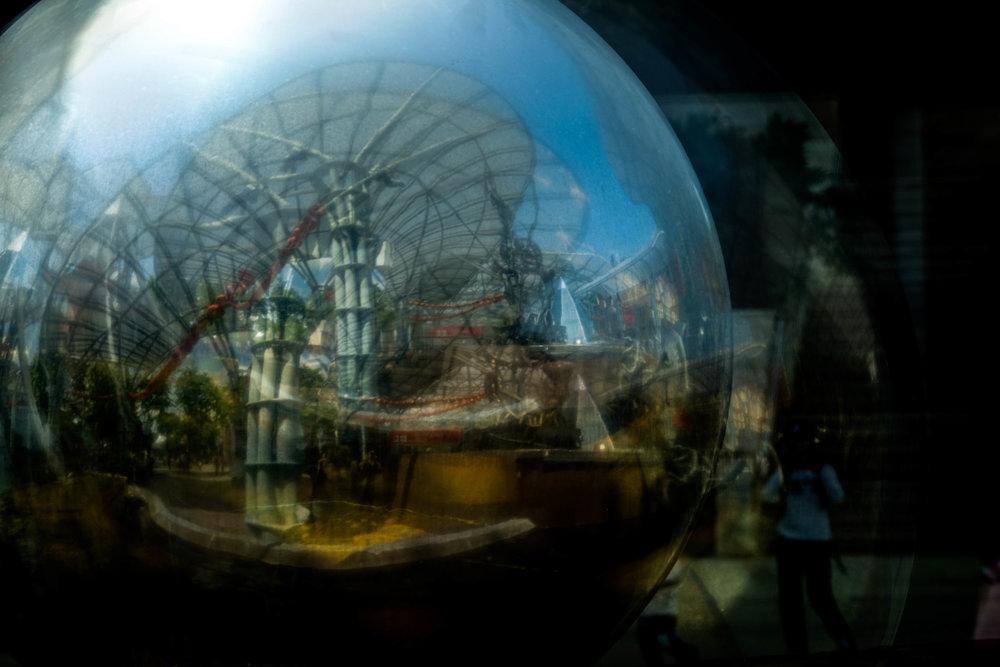 Reflection Ball ©Sean Ginnane 2018 Fujifilm XT-1, 18-55mm lens