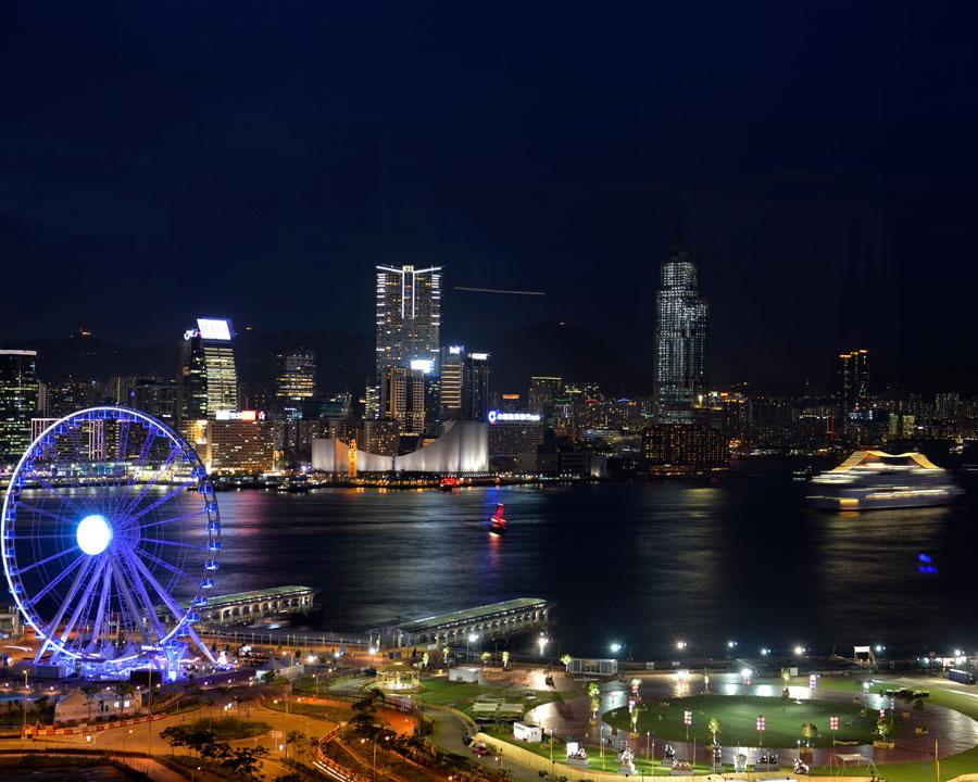 'HK Night' © Naida Ginnane 2013 Nikon D800, 24-70mm lens. f/4.0, 4 sec, ISO 80