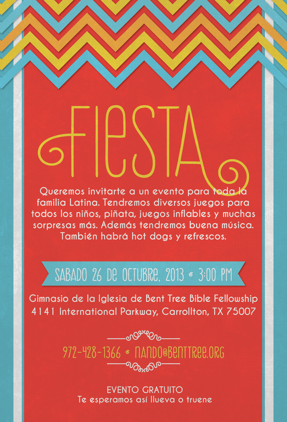 Latino Event Invitation Design