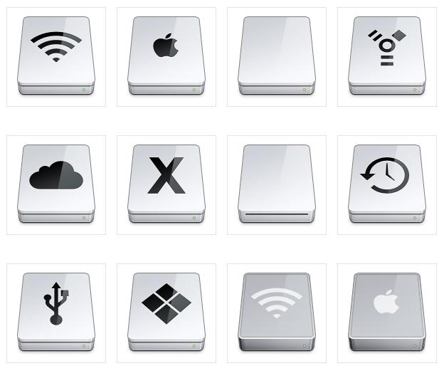 Mac icons hard drive
