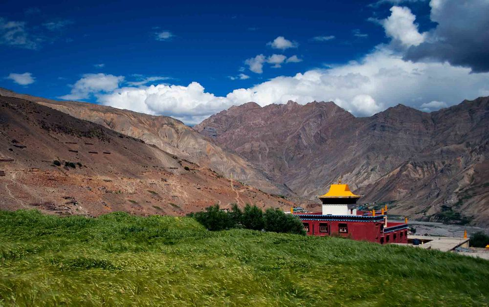 Kungri Monastery at the Pin Valley in Spiti