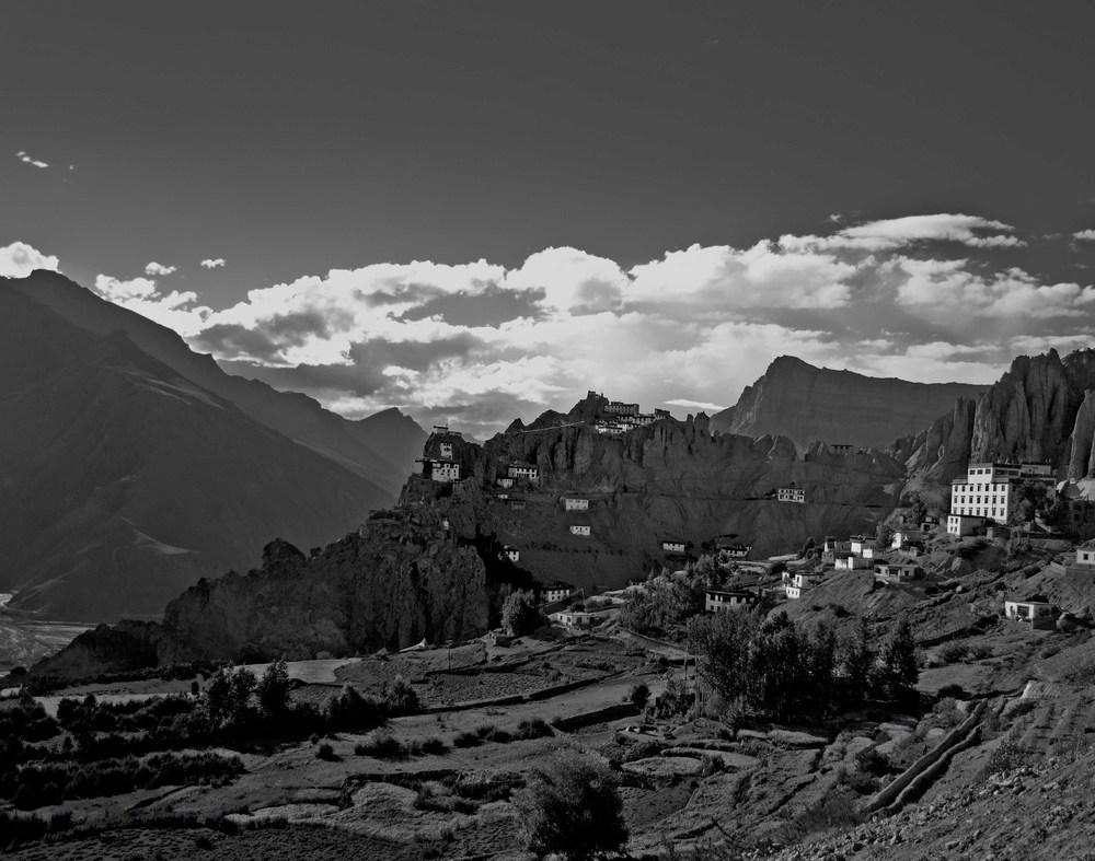 Now crumbling Dhankar Monastery