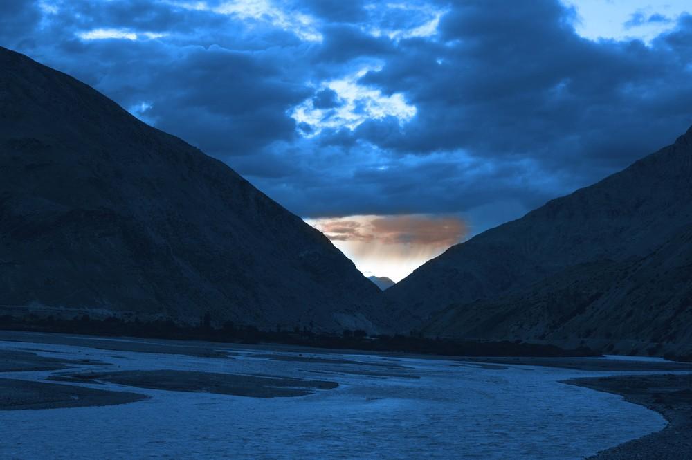 Sunset at Spiti River