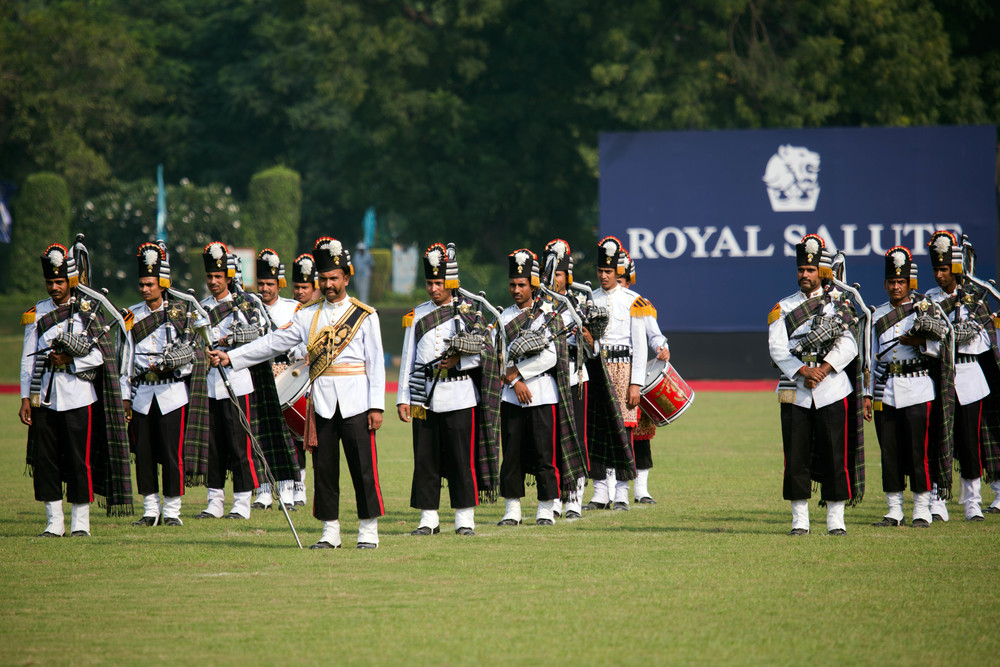Ceremony starts with Indian Army band playing tunes for the select audience