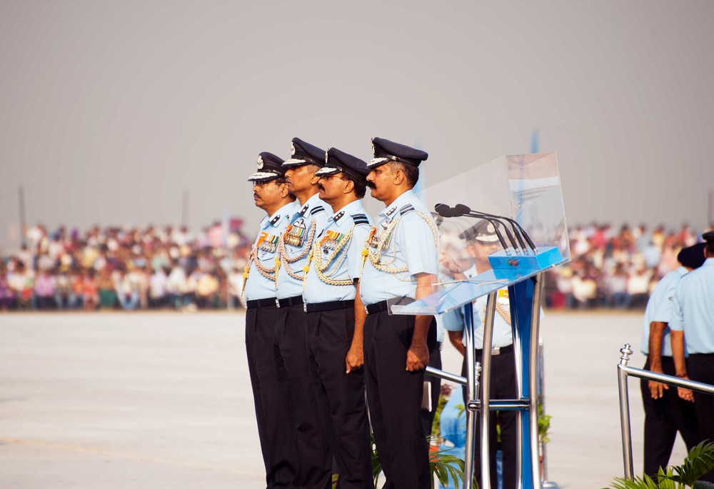 Airforce officers performing admirably are also honoured on the day