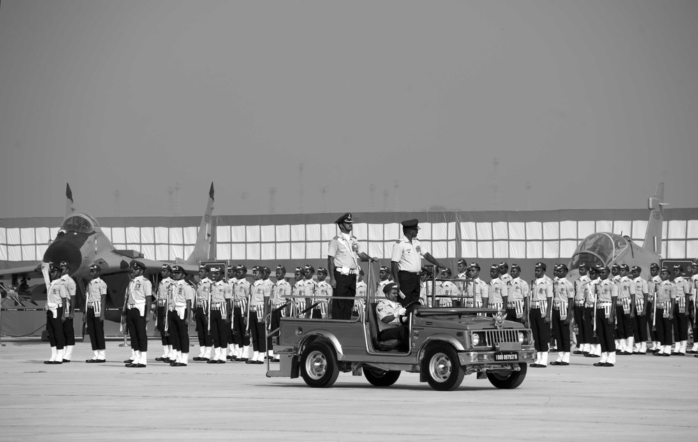 Airforce Chief inspecting the guard of honour
