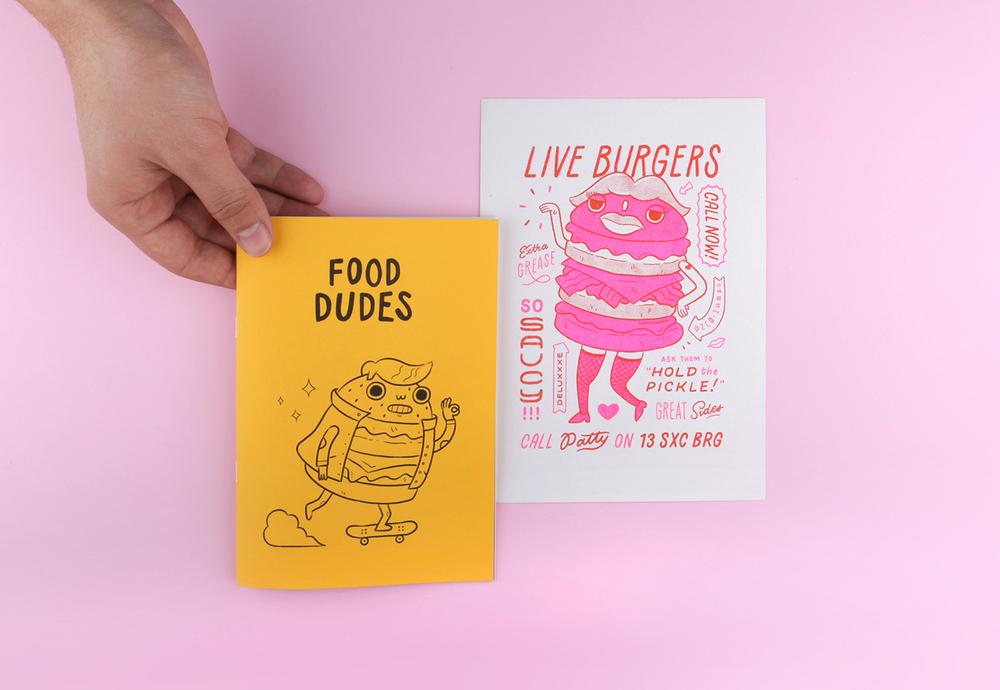 Food Dudes I Am The Wong Design Illustration