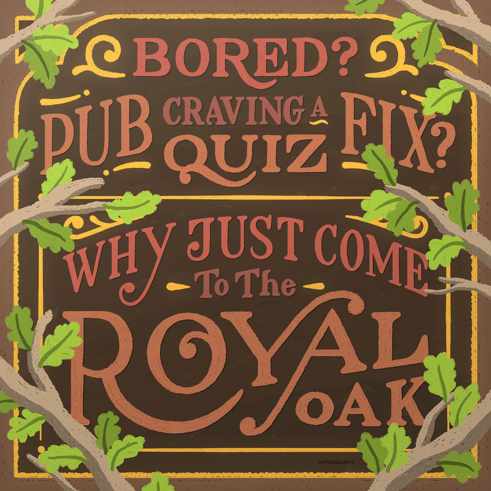 Bored? Craving a Pub Quiz Fix? Why Just Come to The Royal Oak.