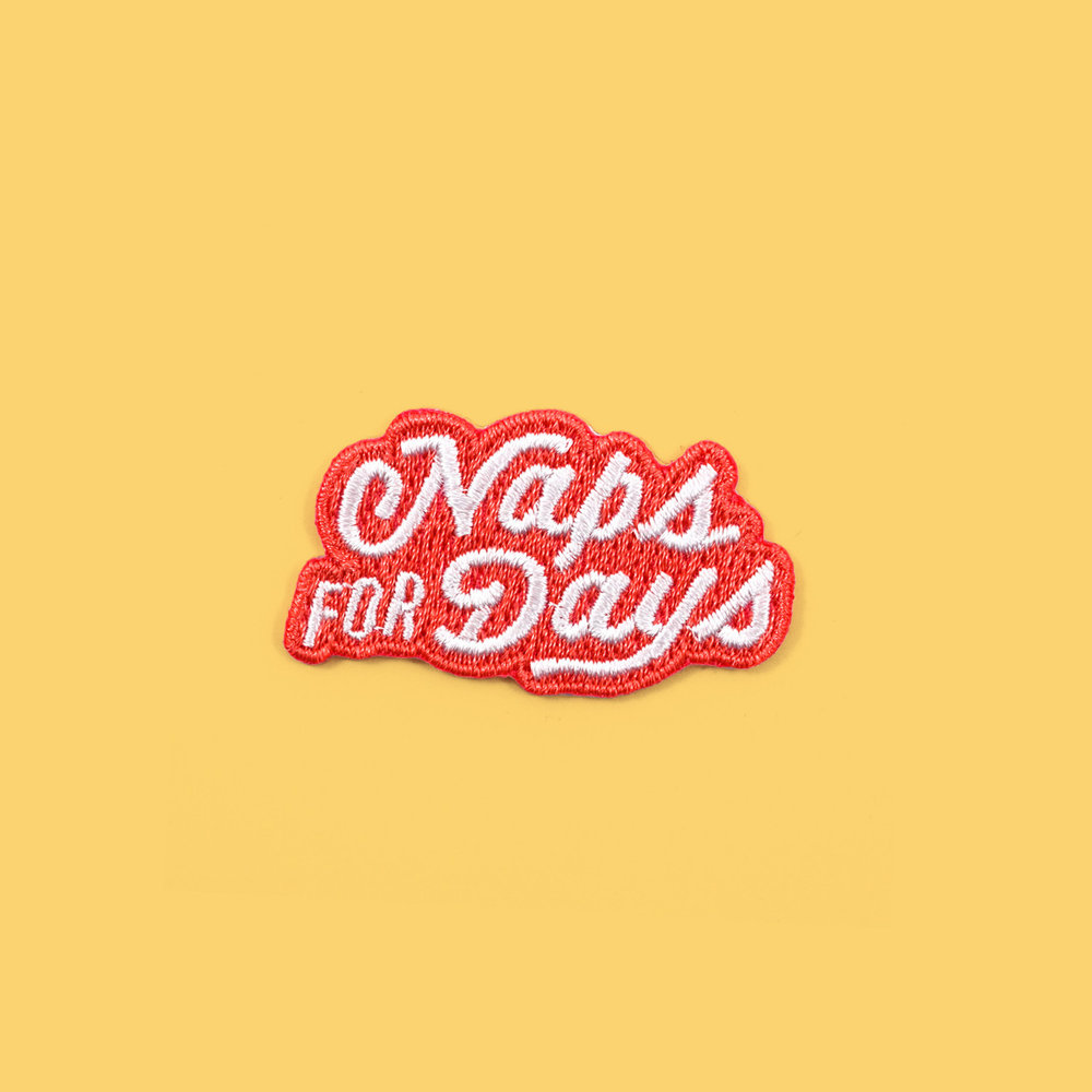 """Naps for Days"" patch"