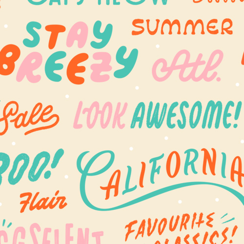 Valley Cruise Lettering