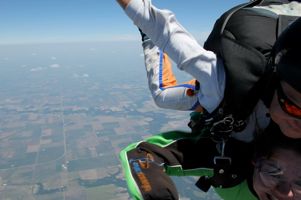 I've been skydiving with Skydive Chicago four times. It's more exhilarating each time and I love bringing first time friends along!