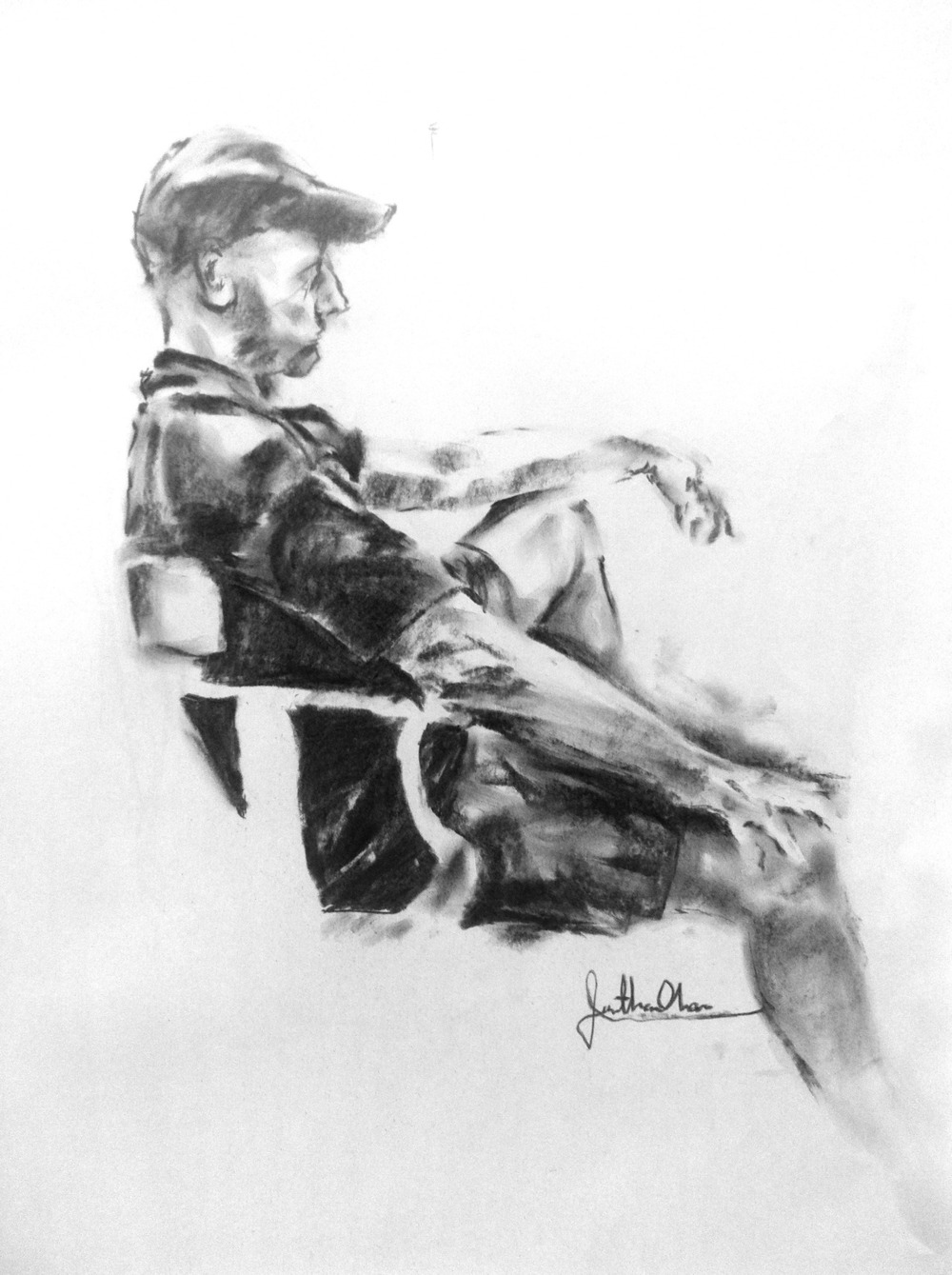 Clothed Male Model on Chair, 2011
