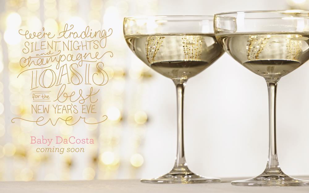 Pregnancy Announcements Brooke Dolan Design – New Years Birth Announcement
