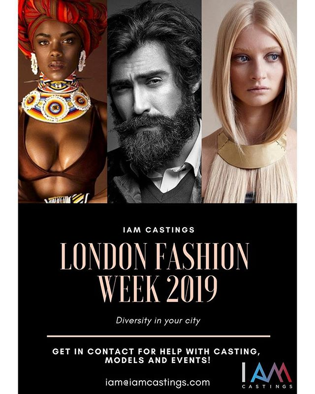 Calling all designers, casting directors, event coordinators and more. London Fashion Week is rapidly approaching! Get in contact with us through our website or email for any Fashion Week needs! #diversity #iam #diversityrulesthistown #iamcastings #london #fashion #model #style #photography #pose #male #female #man #women #casting #modelwork #picoftheday #shoot #modelling #tbt #girls #people #lfw #top #londonfashionweek