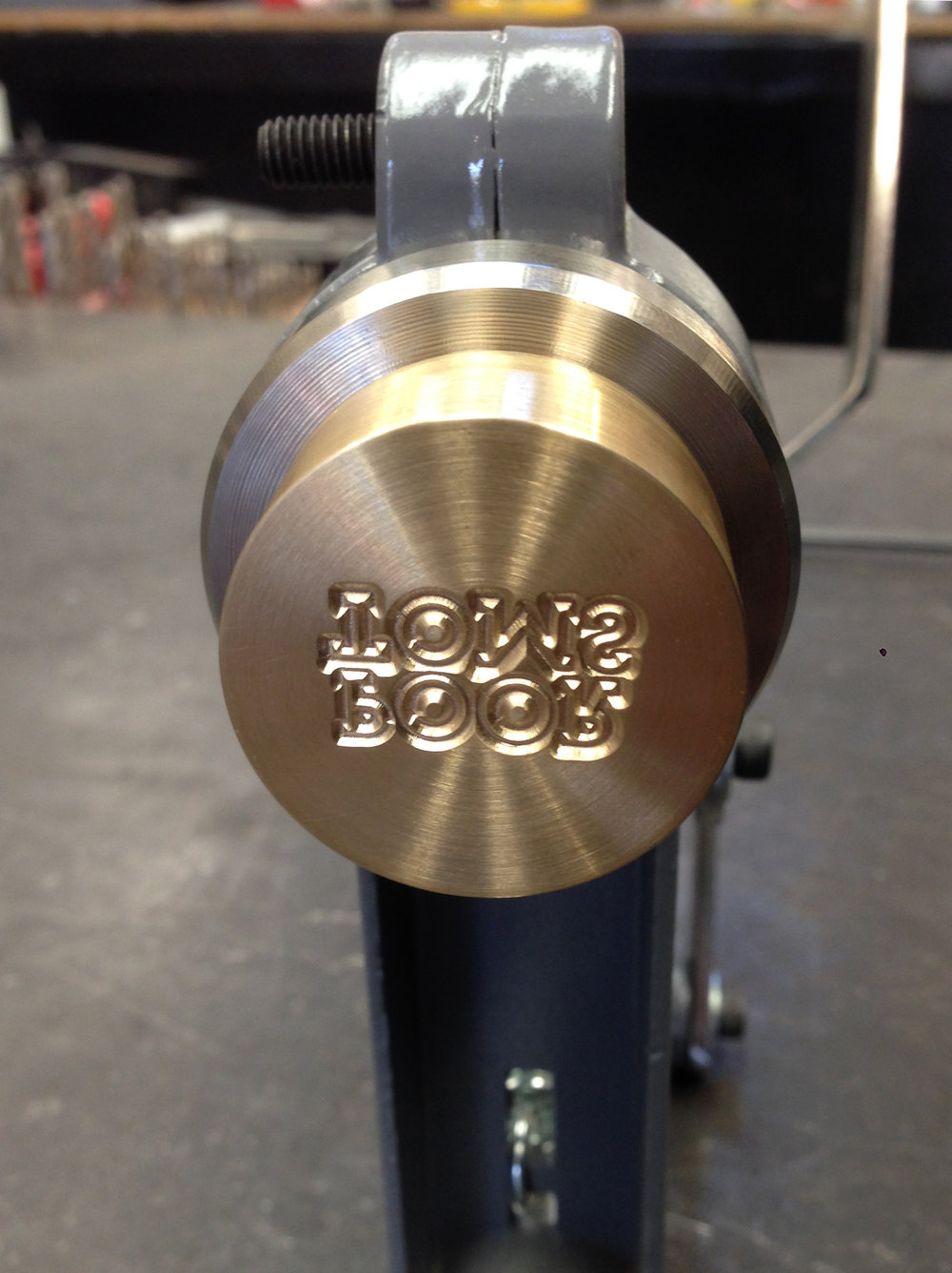 BRASS STAMP FOR GIN BOTTLING LINE