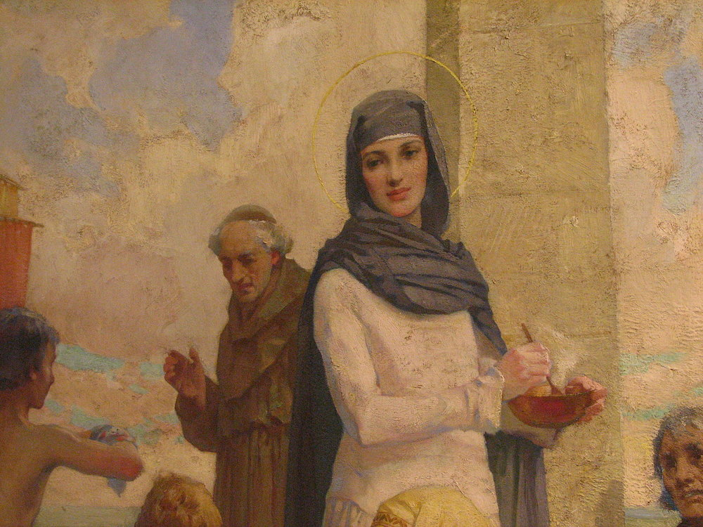 """St. Hilda at Hartlepool"" by James Clark (Oil Painting)"