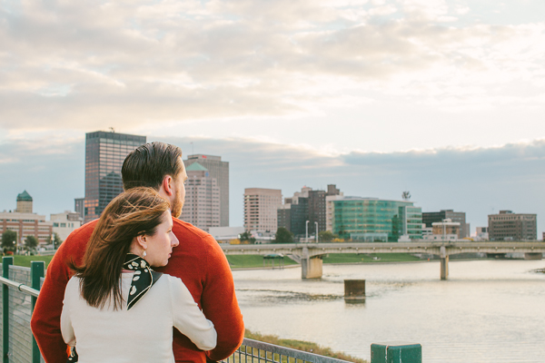 Dayton Ohio wedding and engagement photography, The Oregon District, Brim, Yellow, Jonathan and Caitlin