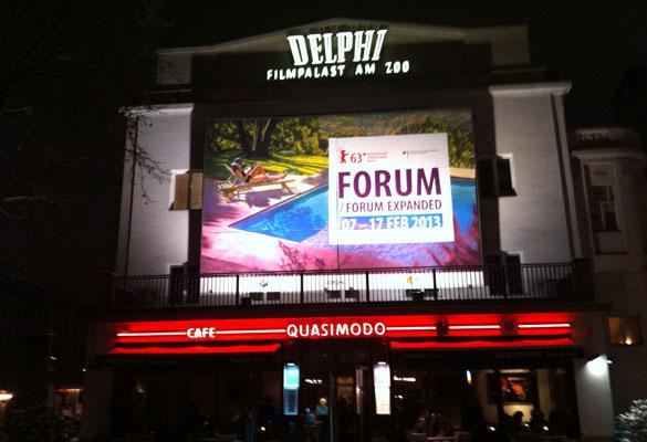 Großflächenplakat Delphi-Kino, Berlinale Forum / Forum Expanded 2013