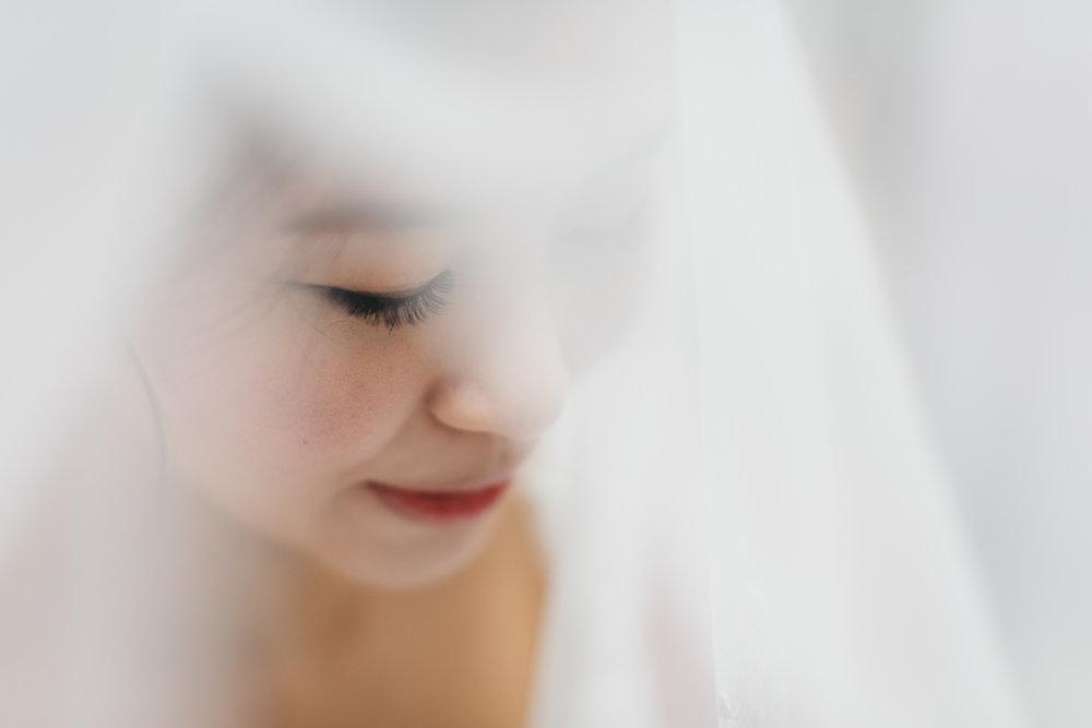 bride in a veil